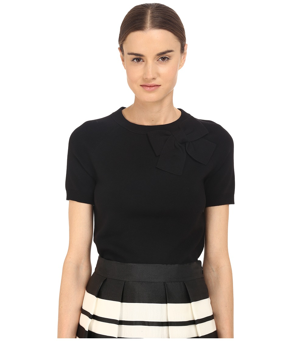 Kate Spade New York - Fitted Bow Sweater (Black) Women's Sweater