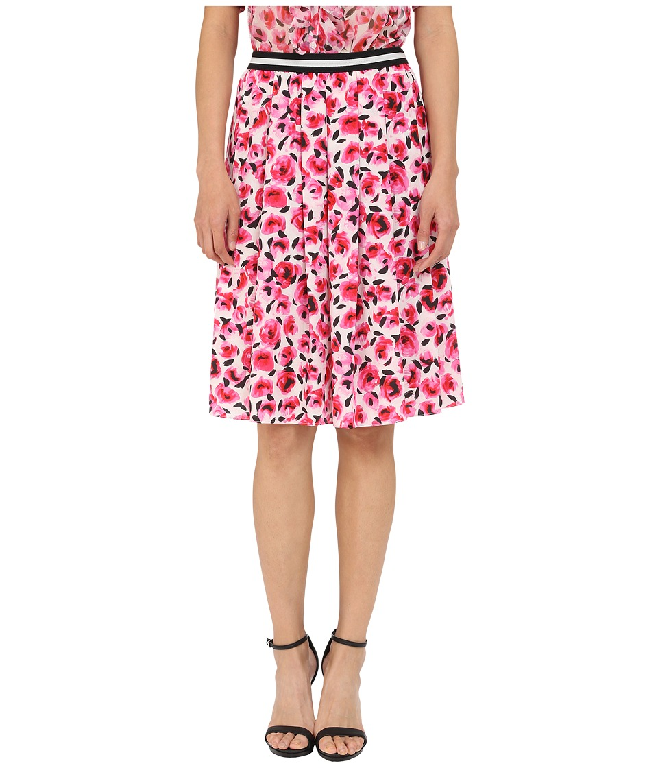 Kate Spade New York - Mini Rose Pleated Skirt (Cream Multi) Women's Skirt