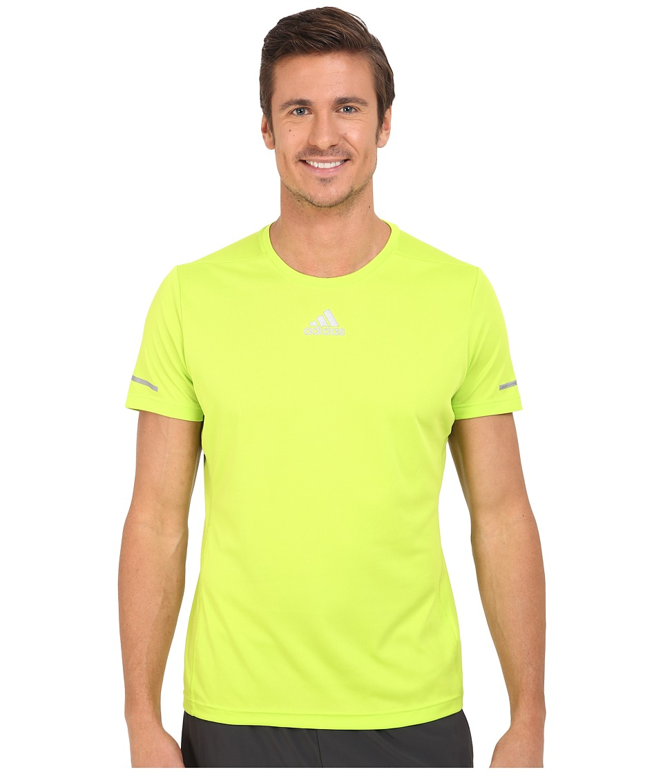 adidas - Run Tee (Semi Solar Slime) Men's Workout