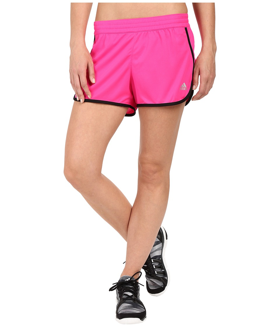 adidas - 100M Dash Knit Shorts (Shock Pink/Black) Women's Shorts