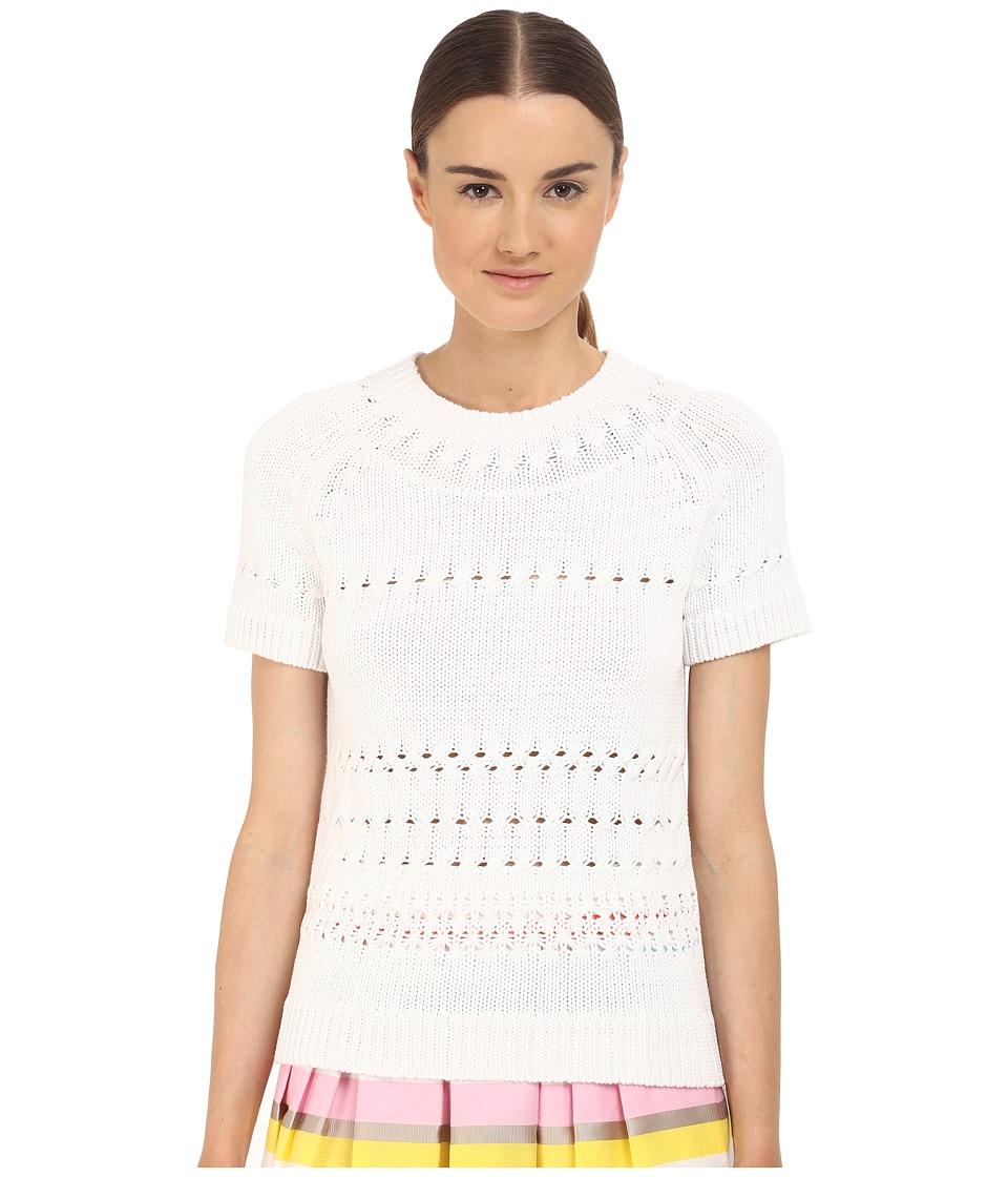 Kate Spade New York - Open Stitch Sweater (Fresh White) Women's Sweater