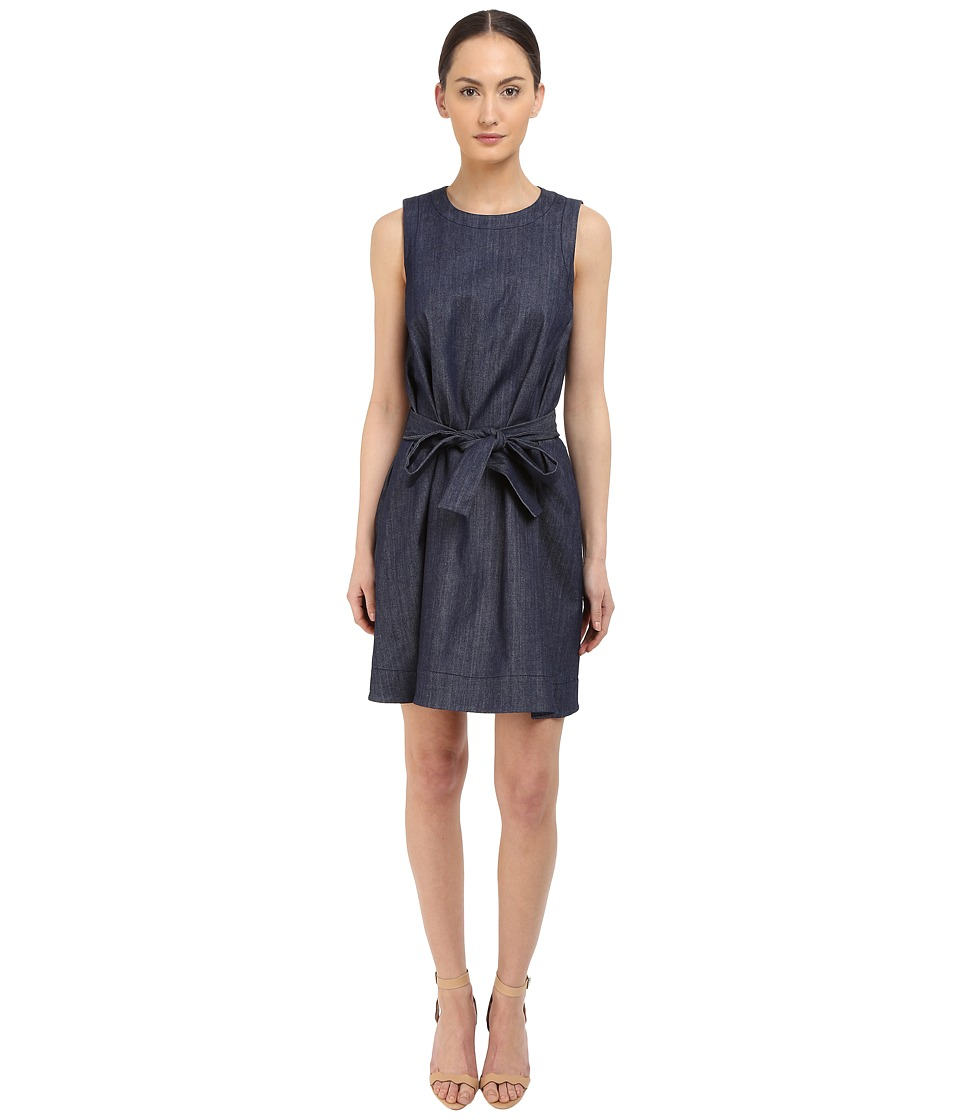 Kate Spade New York - Denim Fit and Flare Dress (Dark Denim) Women's Dress