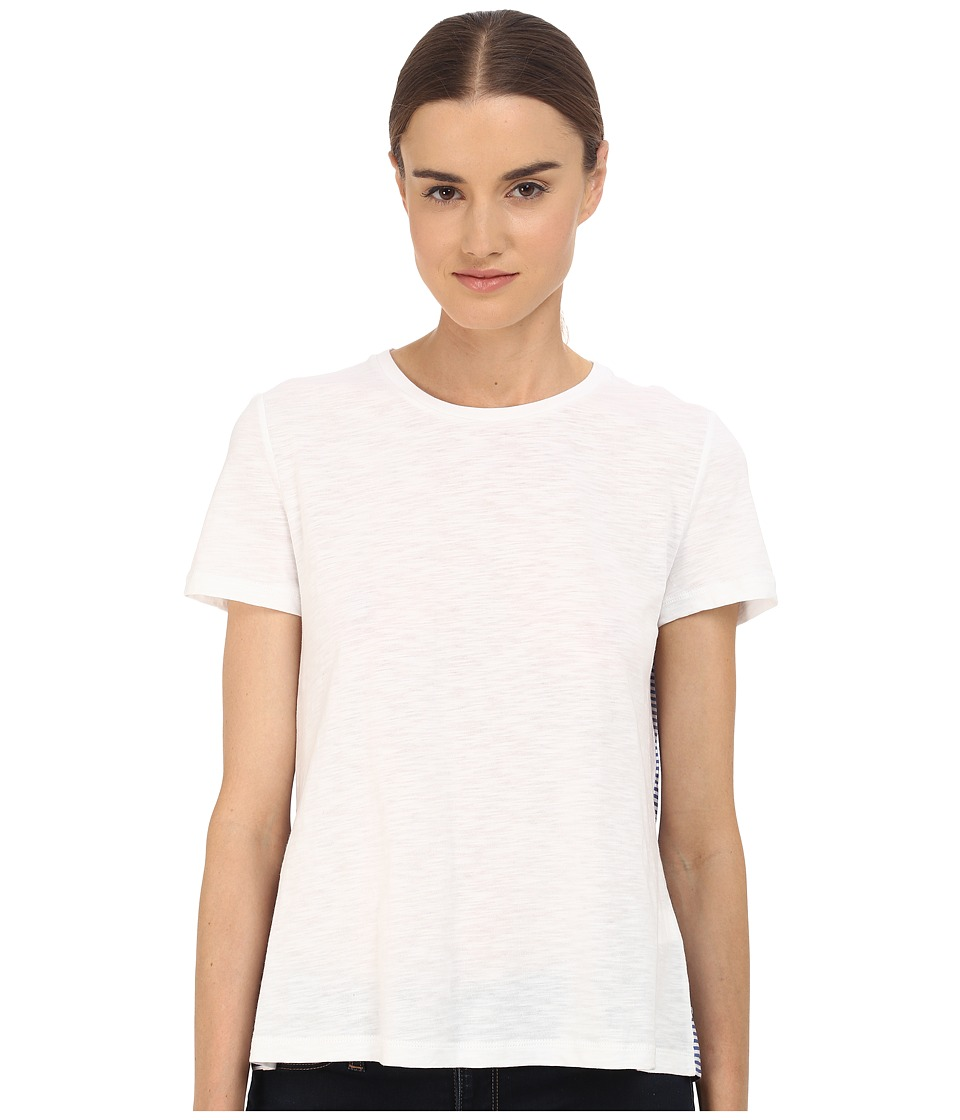 Kate Spade New York - Ruffle Back Tee (Fresh White) Women's T Shirt