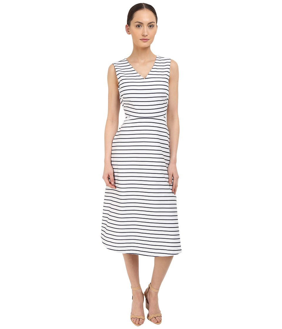 Kate Spade New York - Stripe Cotton A-Line Dress (Ink) Women's Dress