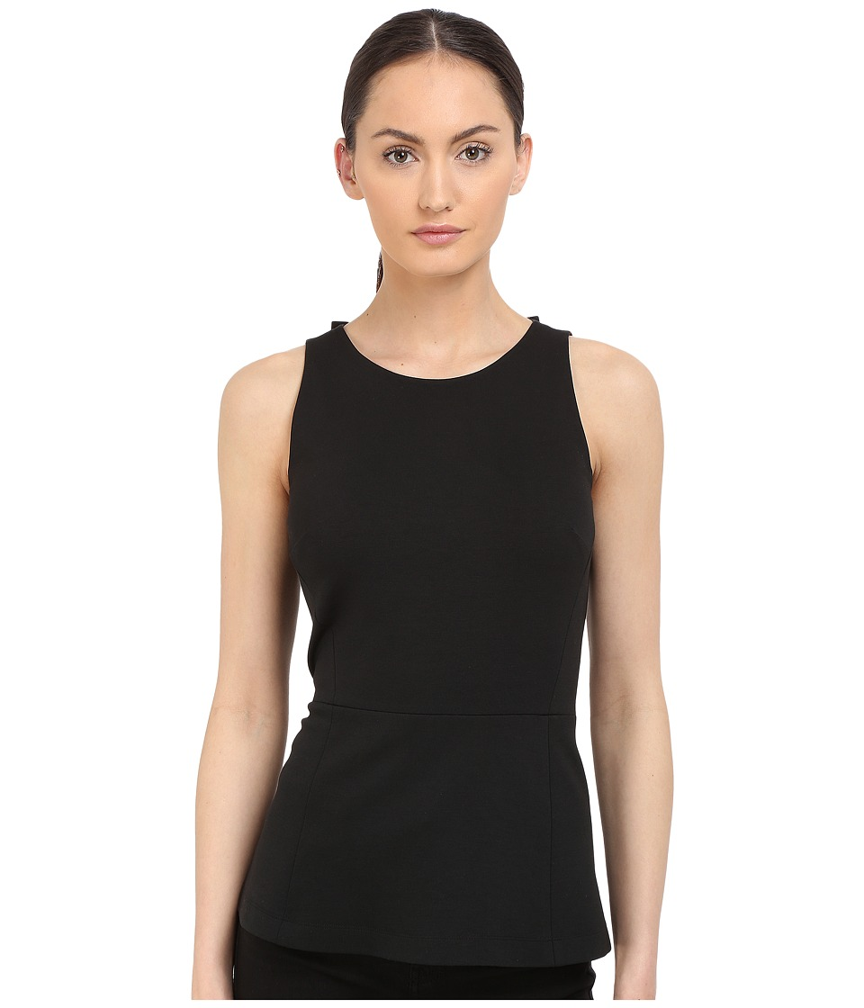 Kate Spade New York - Ponte Open Back Top (Black) Women's Clothing