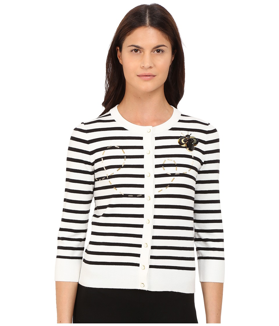 Kate Spade New York - Honey Bee Cardigan (Cream/Black) Women's Sweater