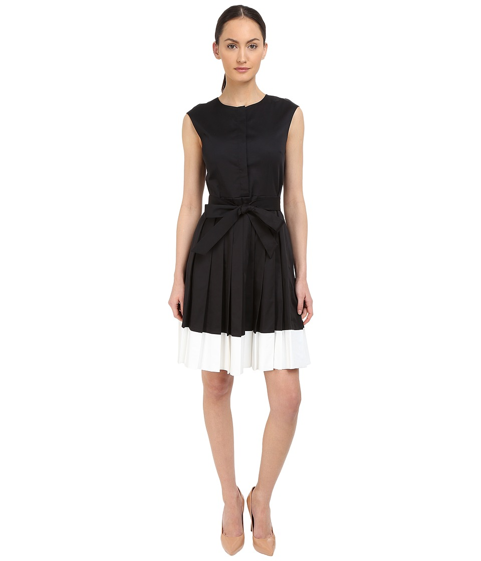 Kate Spade New York - Belted Cotton Shirtdress (Black) Women's Dress