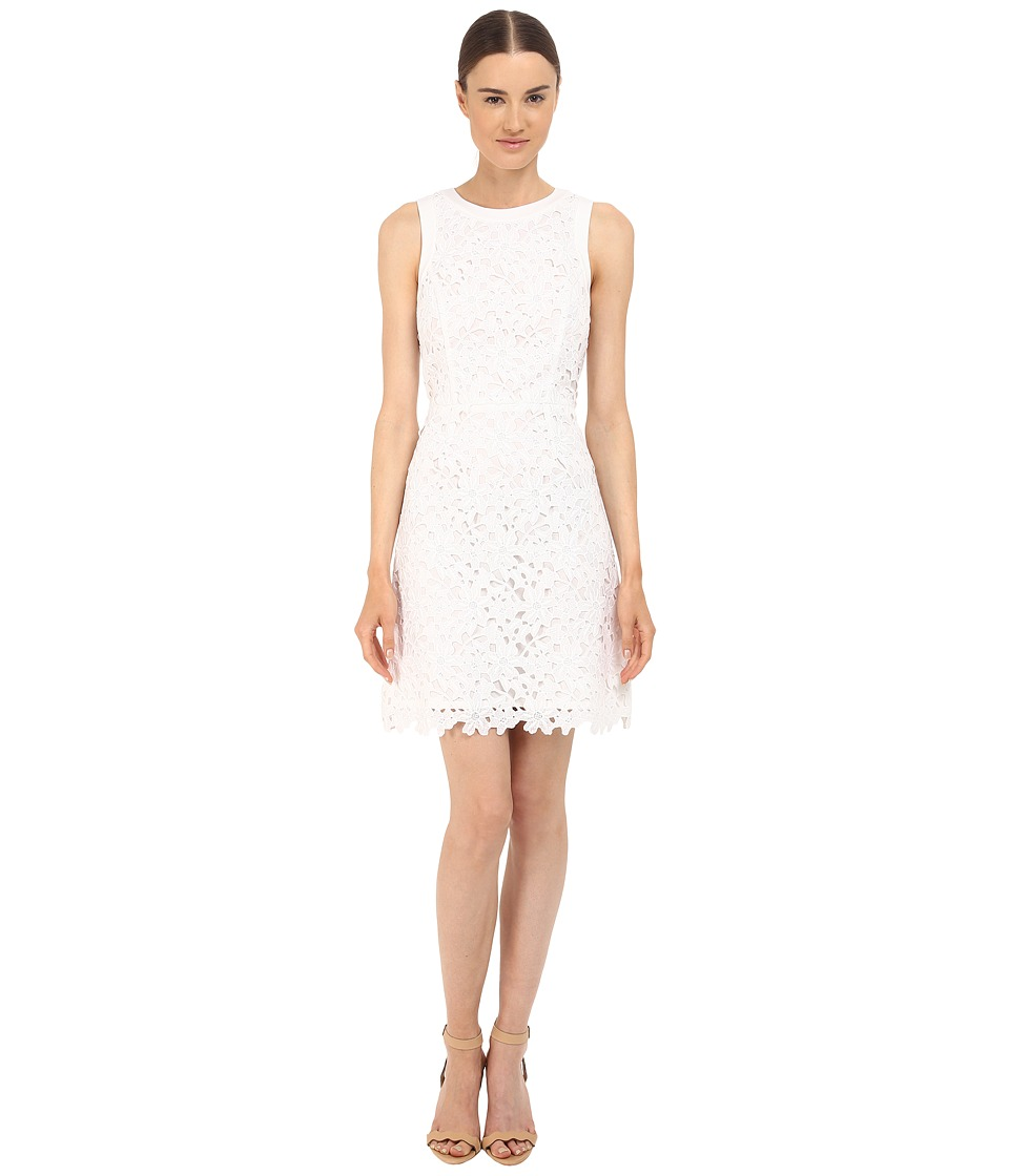 Kate Spade New York - Floral Lace A-Line Dress (Fresh White) Women's Dress