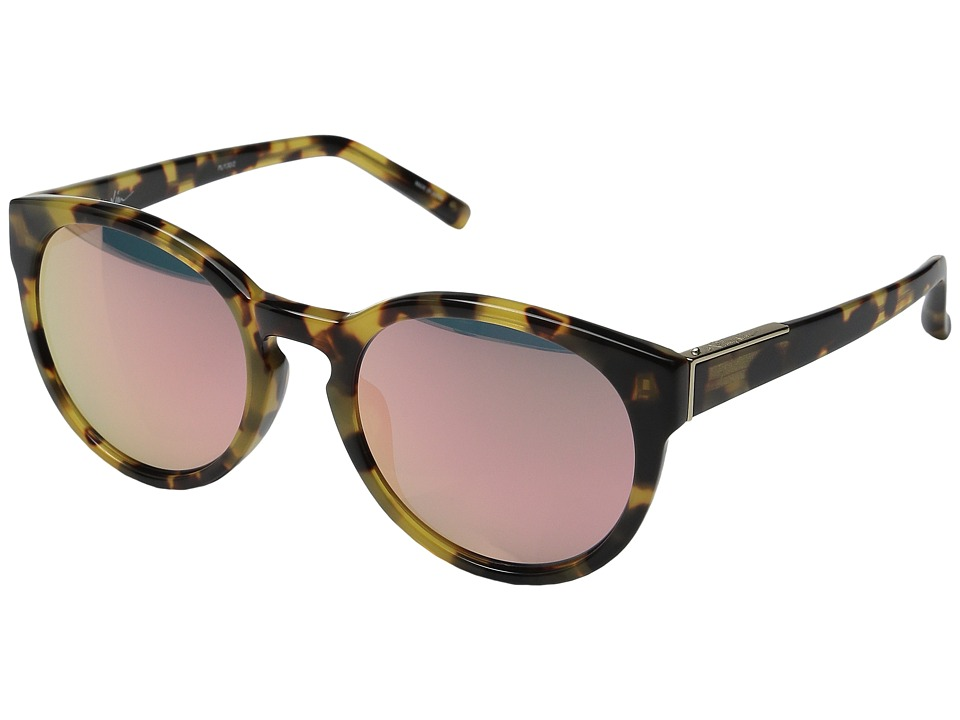 3.1 Phillip Lim - PL1226C4SUN (Brown Wood/Submarine/Blue) Fashion Sunglasses