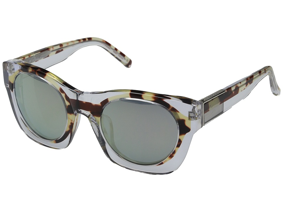 3.1 Phillip Lim - PL130C3SUN (Clear/Green Mirror) Fashion Sunglasses