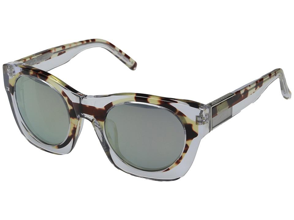 3.1 Phillip Lim - PL130C3SUN (Clear/Green Mirror) Fashion Sunglasses