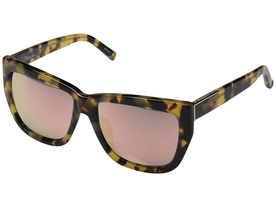 3.1 Phillip Lim - PL110C2SUN (Tortoise/Light Gold/Peach Mirror) Fashion Sunglasses