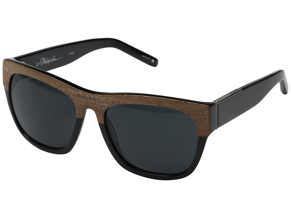 3.1 Phillip Lim - PL93C3SUN (Brown Wood/Black) Fashion Sunglasses