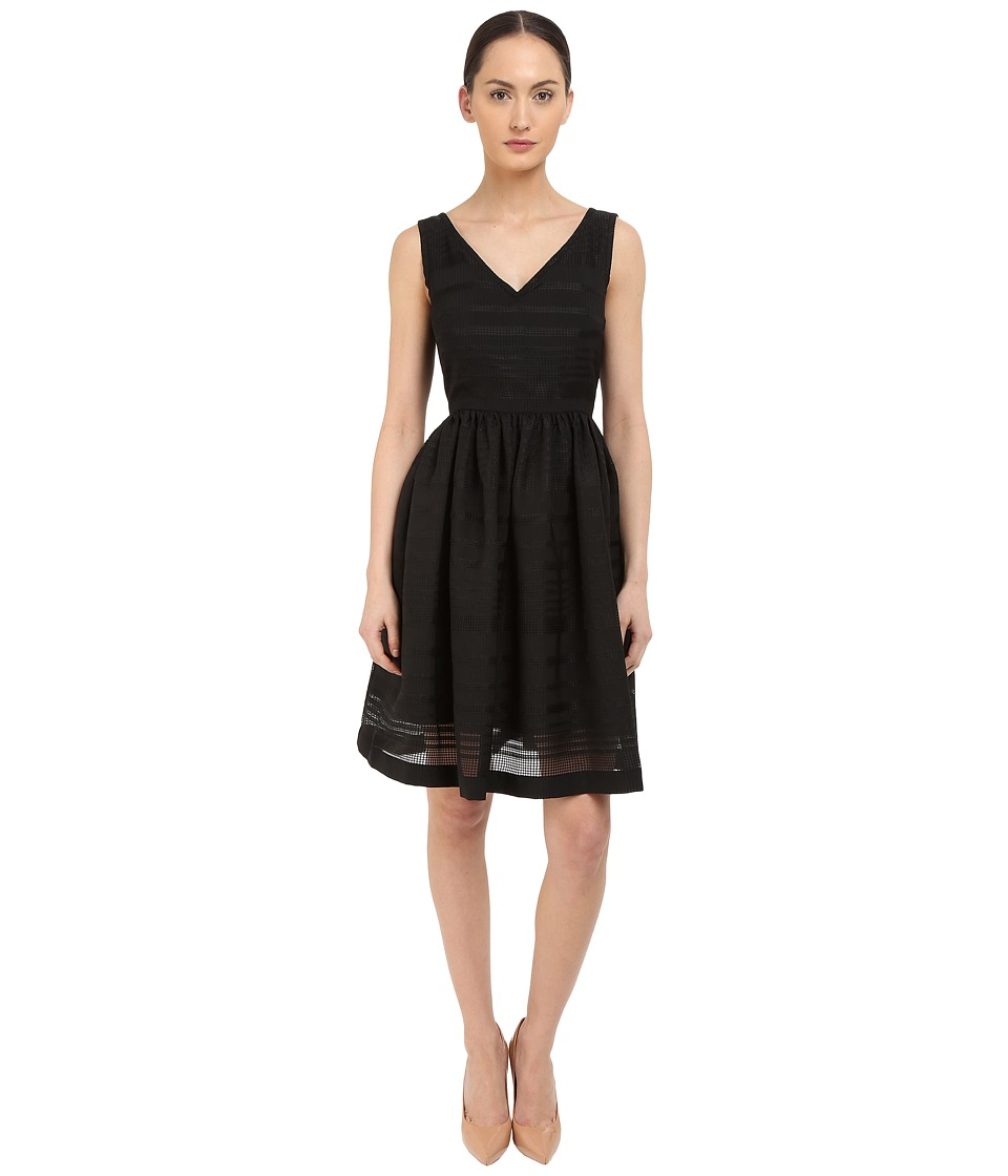 Kate Spade New York Ribbon Organza Fit and Flare Dress