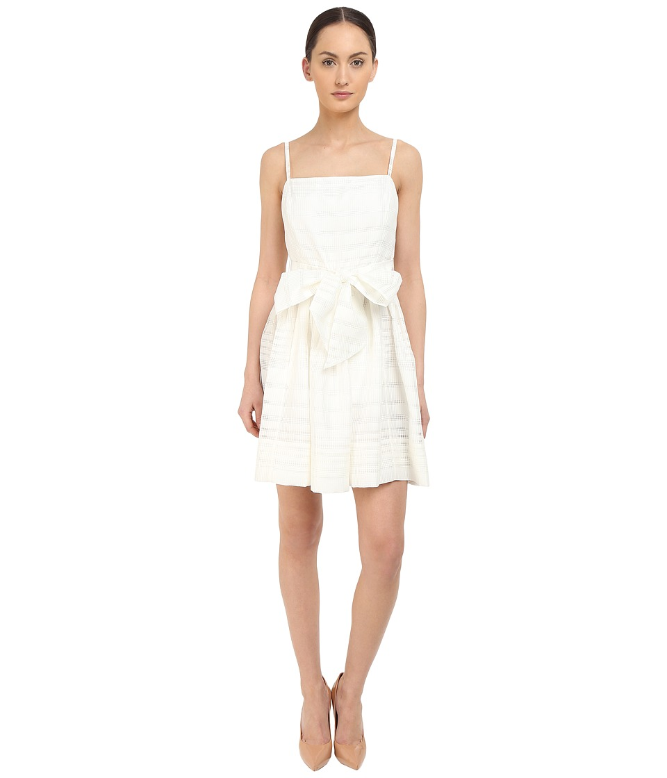 Kate Spade New York - Ribbon Organza Bow Dress (Fresh White) Women's Dress