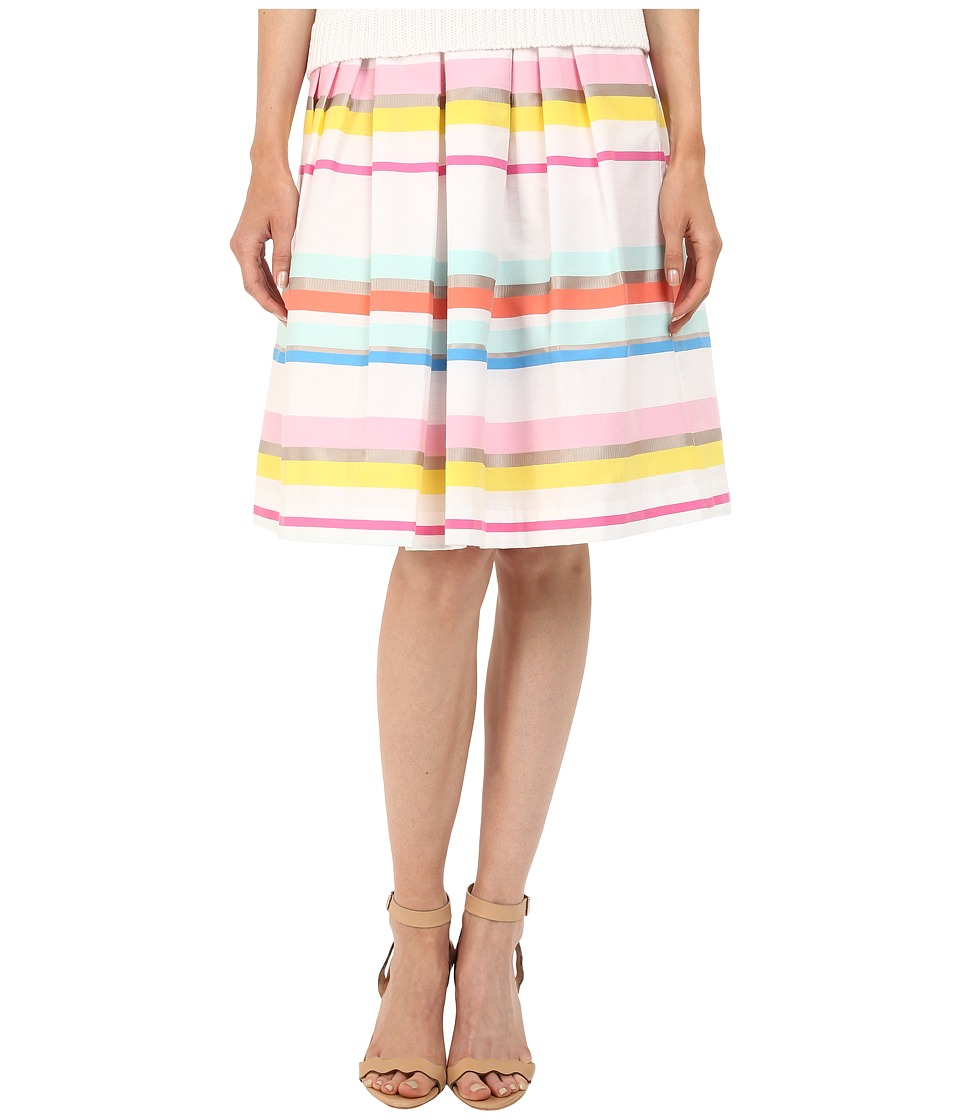Kate Spade New York - Ribbon Cape Stripe Pleated Skirt (Multi) Women's Skirt