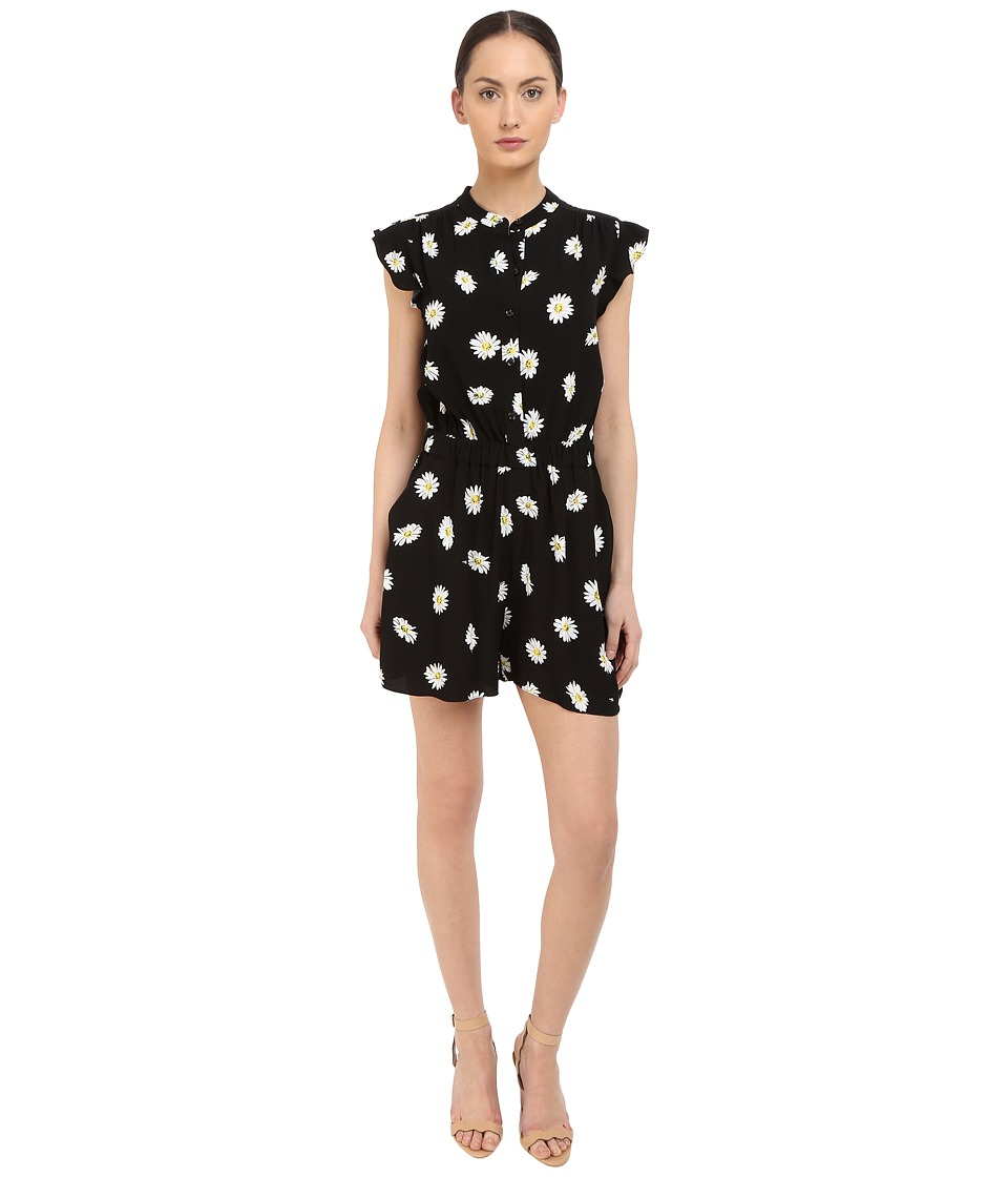 Kate Spade New York - Daisy Dot Crepe Romper (Black) Women's Jumpsuit & Rompers One Piece