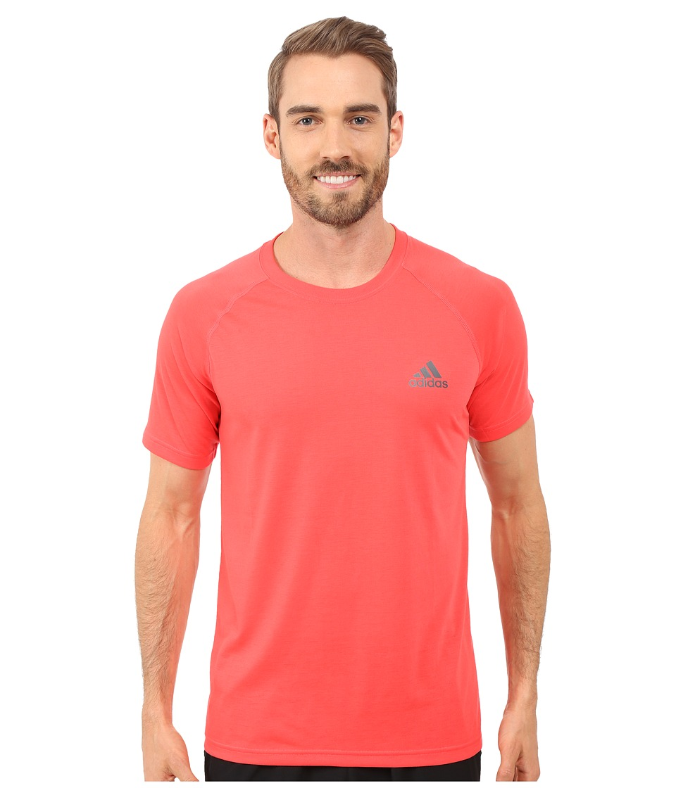 adidas - Ultimate S/S Crew Tee (Shock Red/DGH Solid Grey) Men's T Shirt