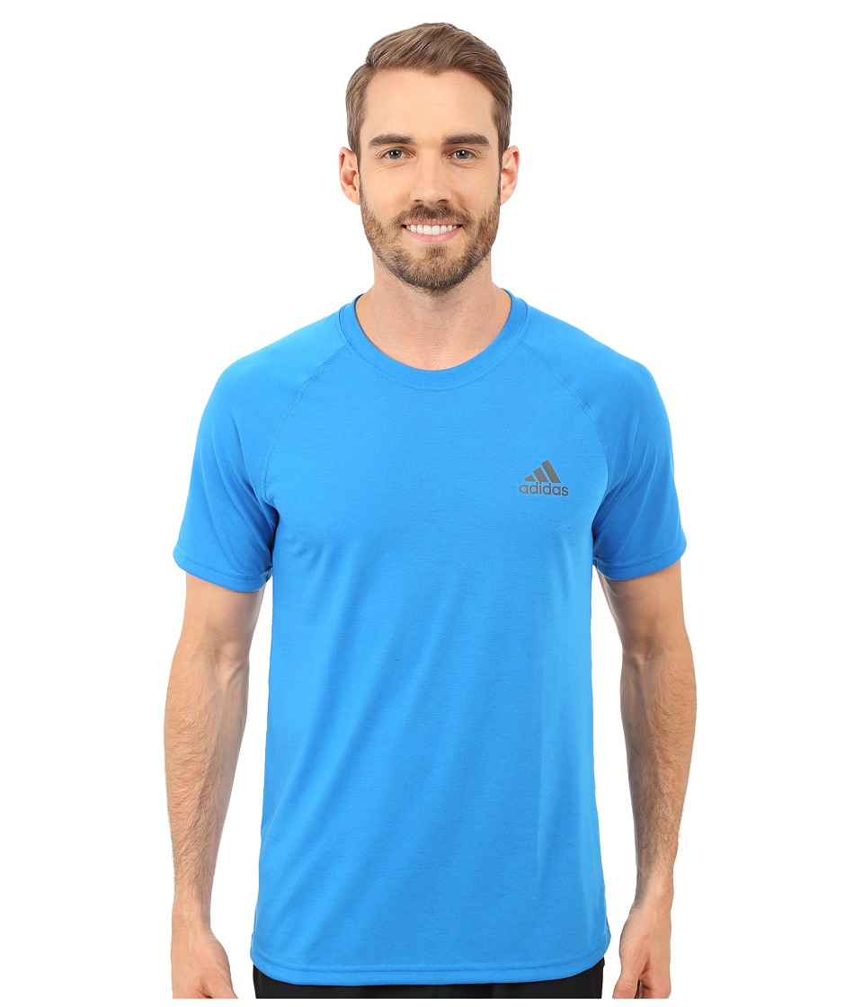 adidas - Ultimate S/S Crew Tee (Shock Blue/DGH Solid Grey) Men's T Shirt