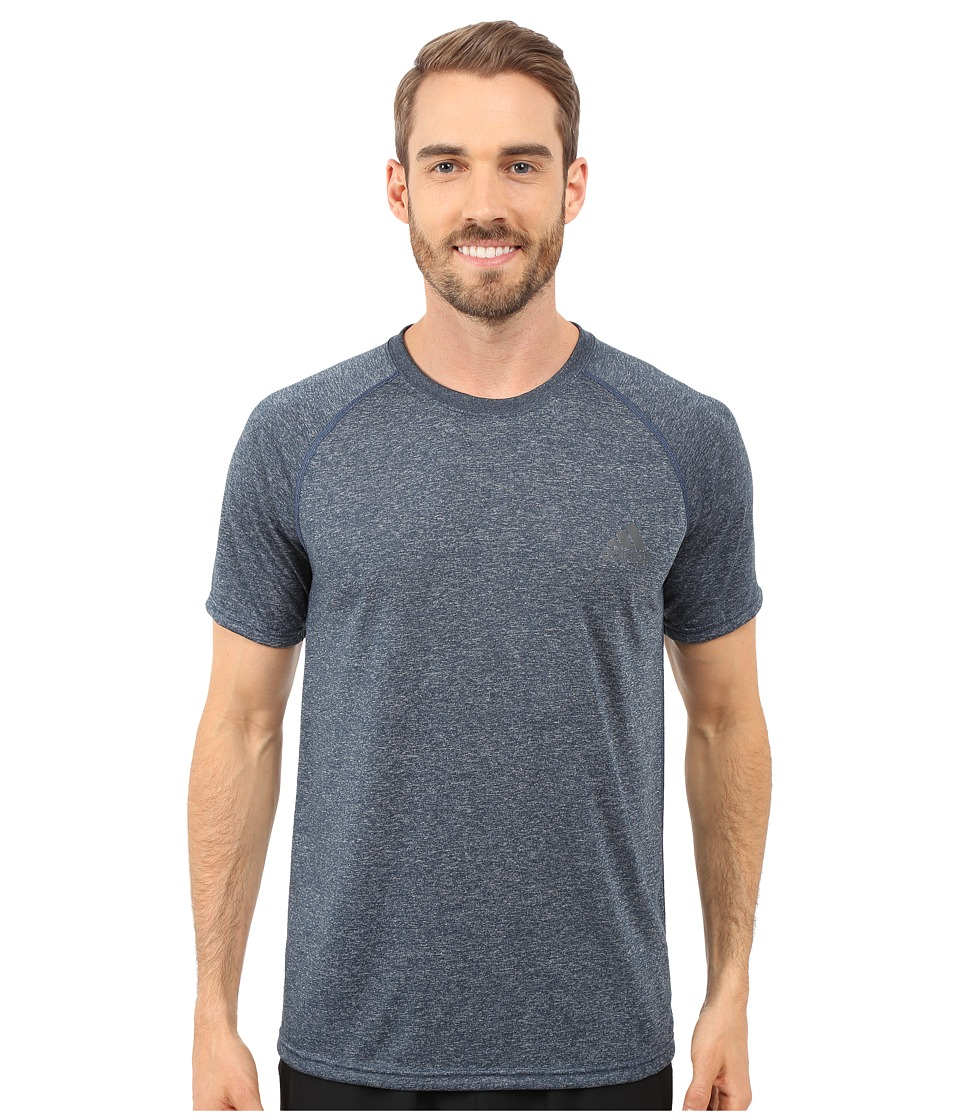 adidas - Ultimate S/S Crew Tee (Mineral Blue Heather/DGH Solid Grey) Men's T Shirt
