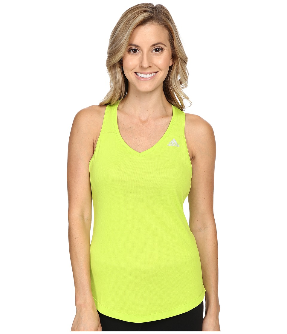 adidas - Run Tank Top (Semi Solar Slime) Women's Sleeveless
