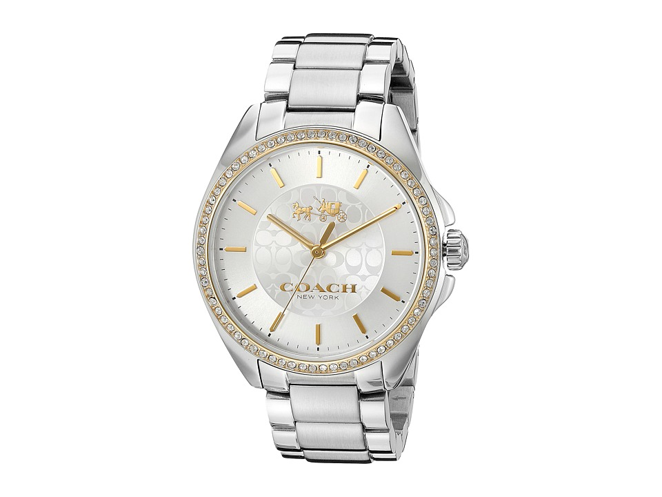 COACH - Tristen 36mm Bracelet Watch (Silver/Stainless Steel) Watches