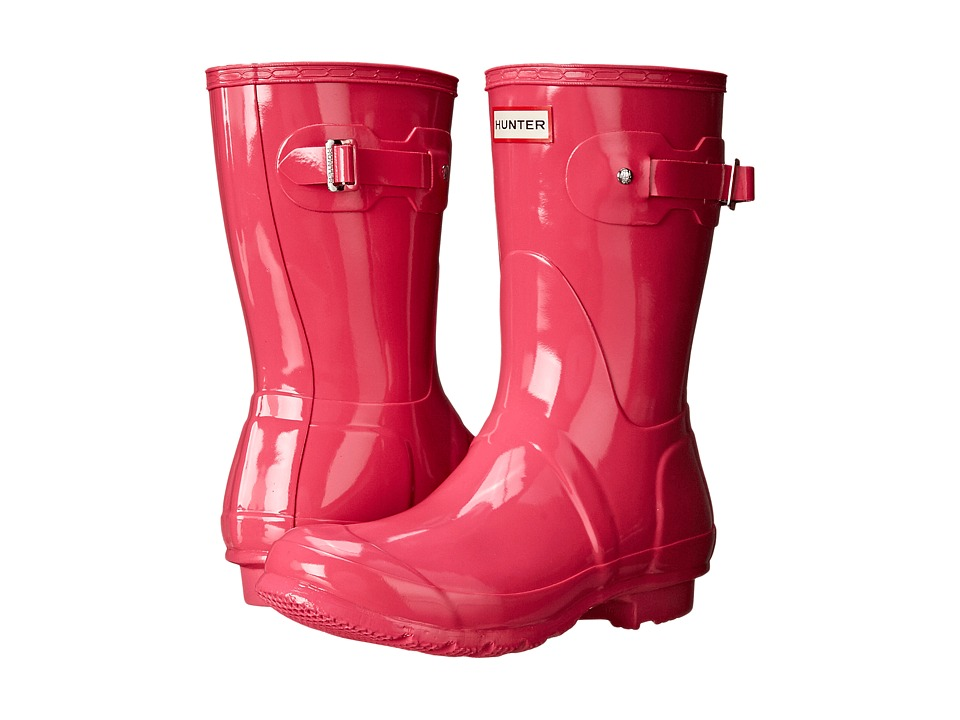 Hunter - Original Short Gloss (Bright Cerise) Women's Rain Boots
