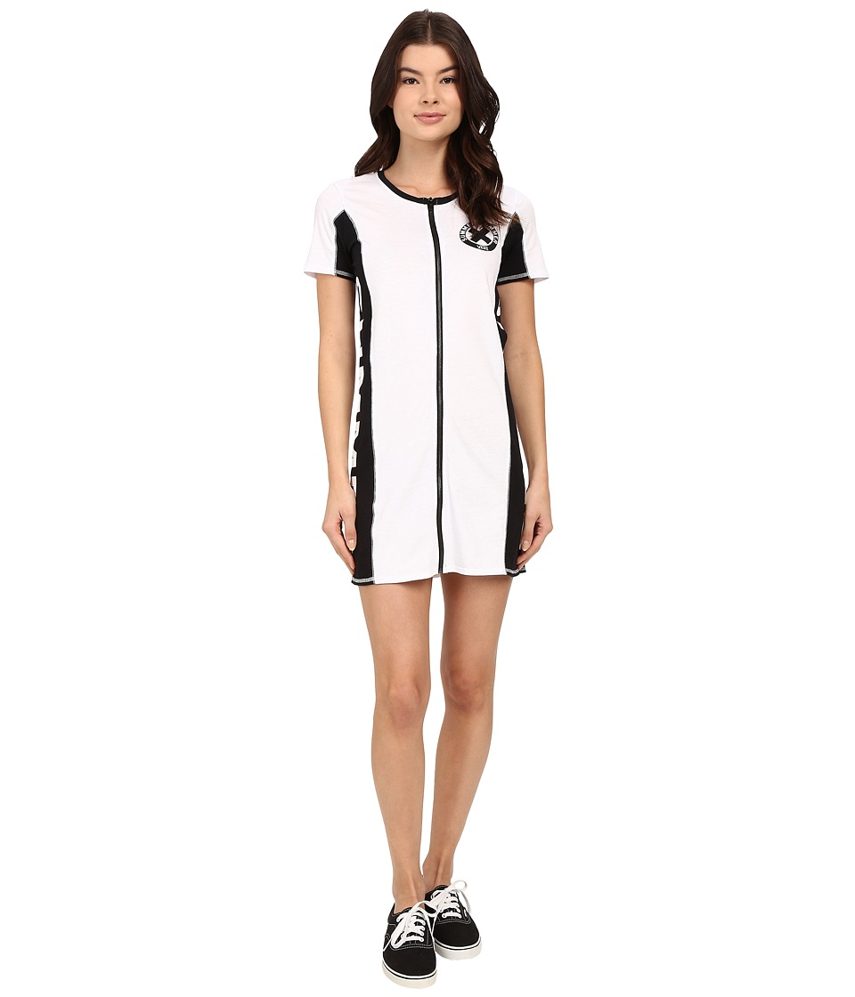 Vans - Sum Bum Zip Dress (White) Women's Dress