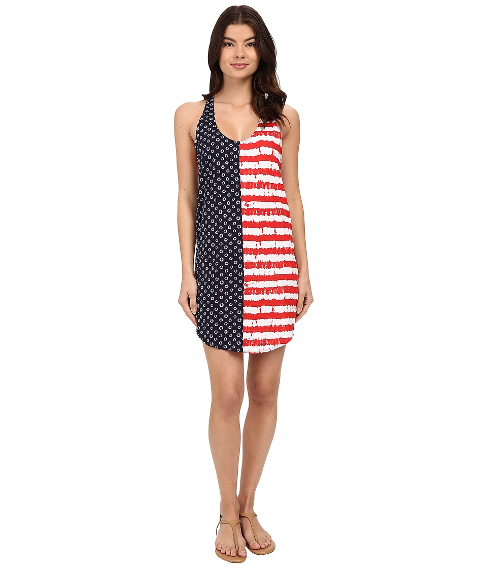 Vans - Dots and Stripes Dress (Dyed Dots/Stripes/Blue/Red) Women's Dress
