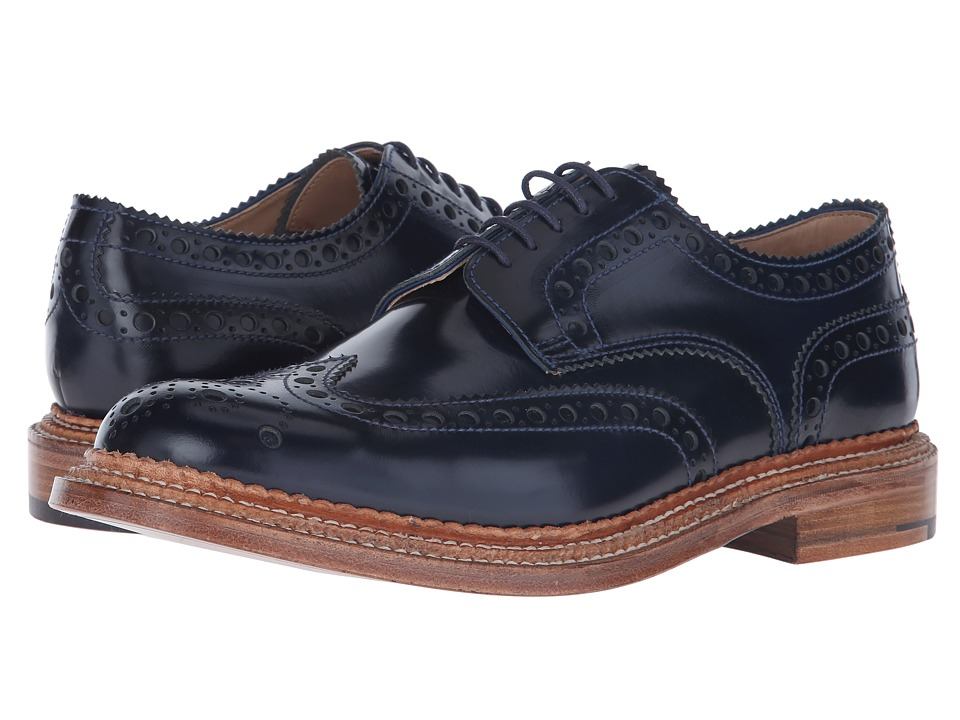 Grenson - Archie Triple Welt (Navy Rub Off) Men's Shoes
