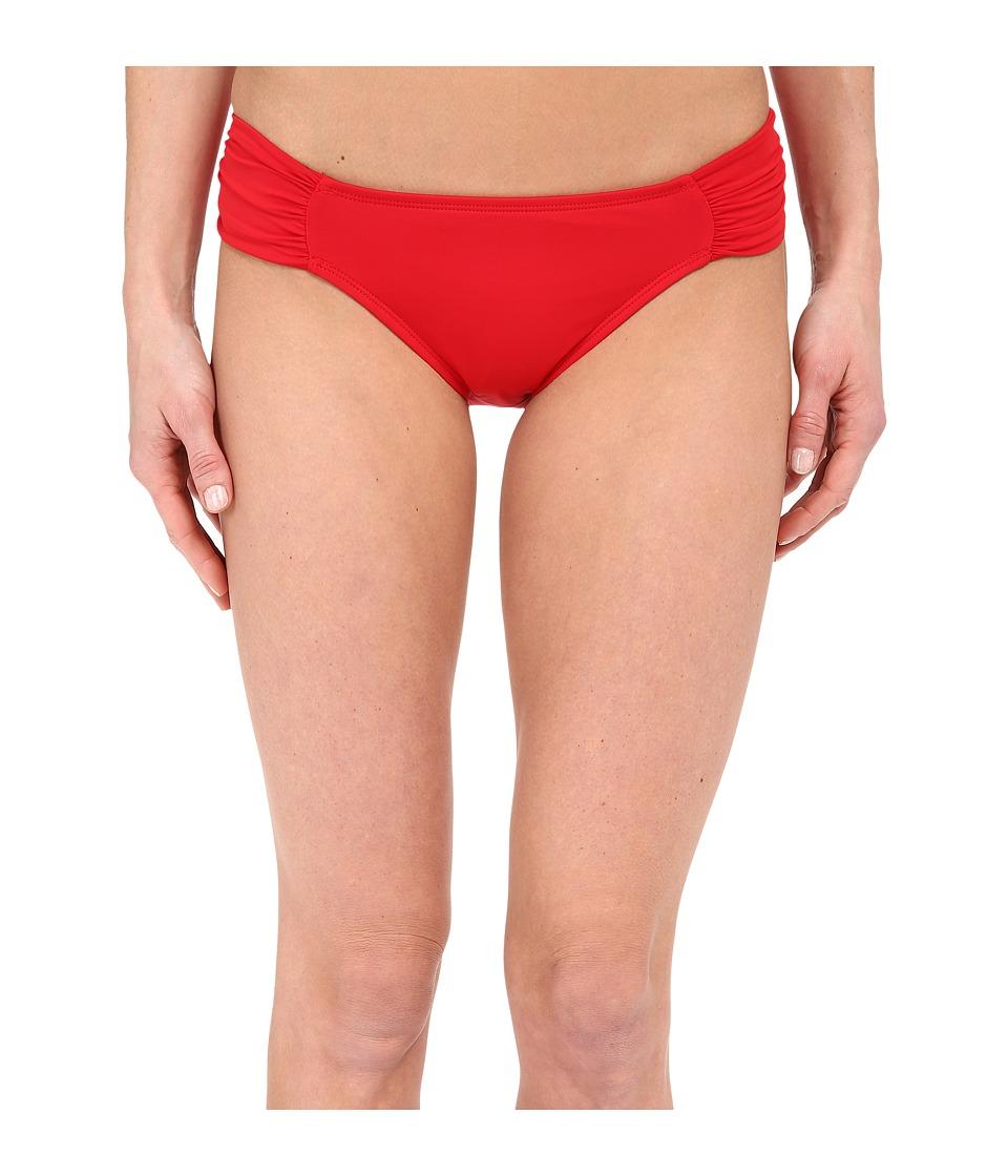 La Blanca - Island Goddess Side Shirred Hipster Bottom (Lipstick) Women's Swimwear