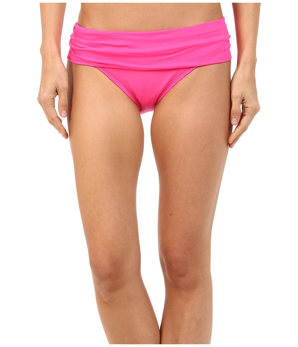 La Blanca - Island Goddess Shirred Waist Hipster Bottom (Pinkberry) Women's Swimwear