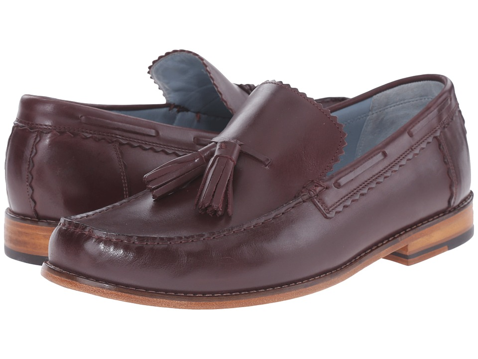 Grenson - Grayson (Burgundy) Men's Slip on Shoes