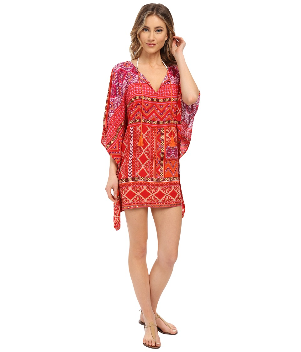 La Blanca - Magic Carpet Tunic Cover-Up (Lipstick) Women