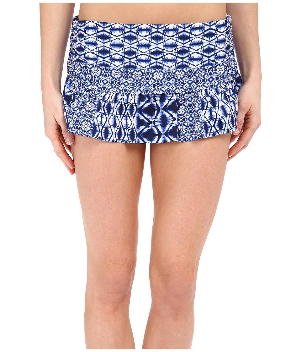 La Blanca - Tangier Skirted Hipster (Blueberry) Women's Swimwear
