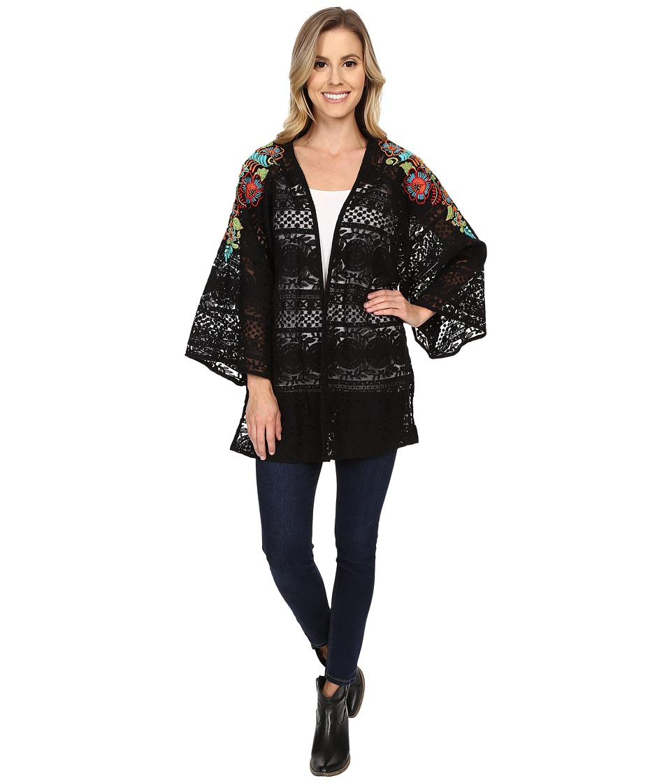 Double D Ranchwear - Pepino Dulce Kimono (Black) Women's Blouse