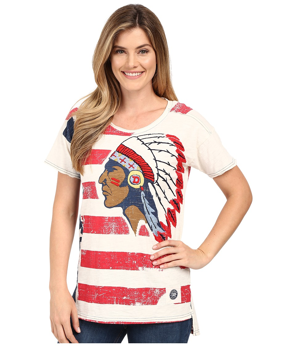 Double D Ranchwear - To See Ol' Glory Fly Top (String) Women's Short Sleeve Pullover