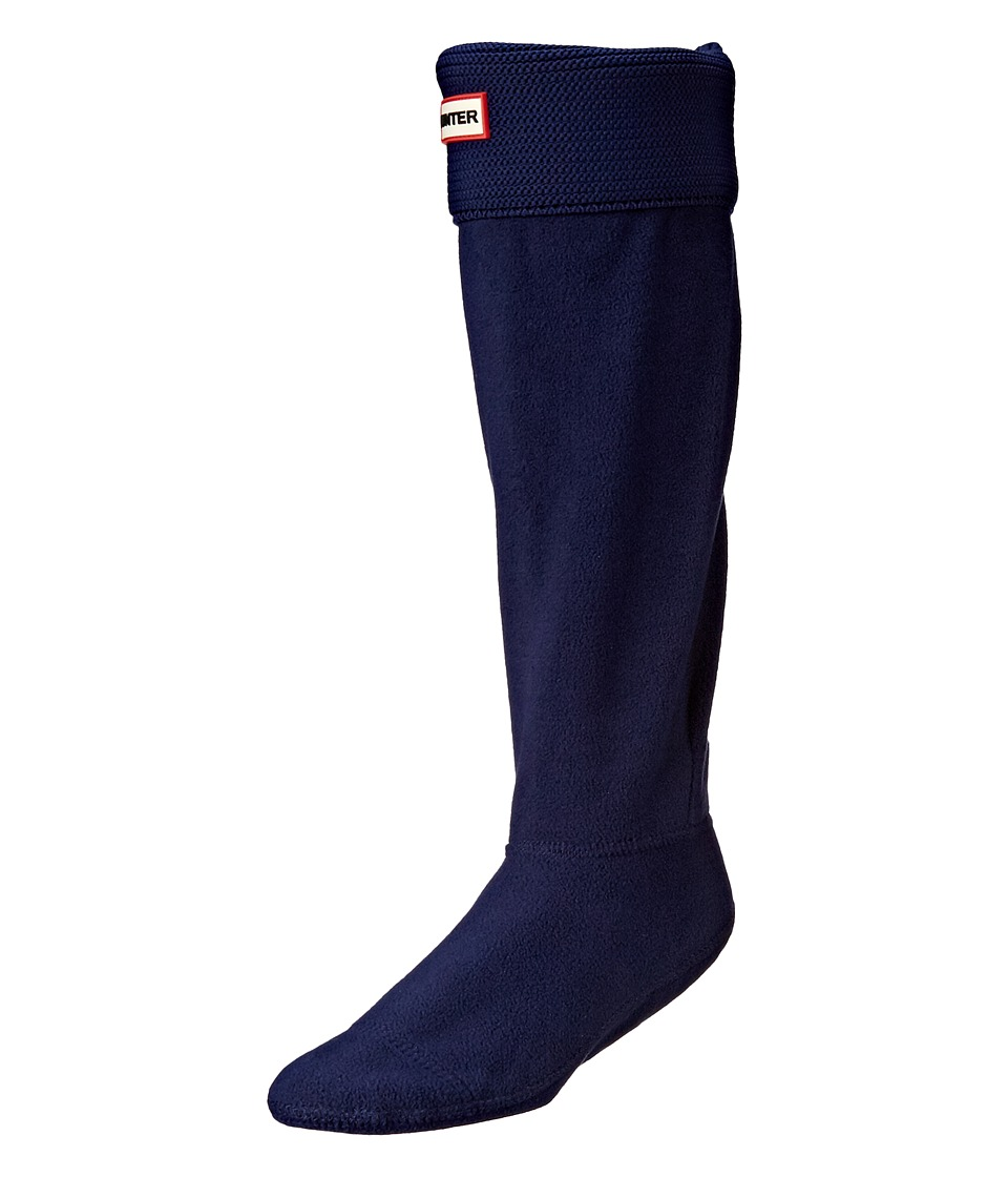 Hunter - Original Tall Boot Sock Garter Cuff (Navy) Crew Cut Socks Shoes