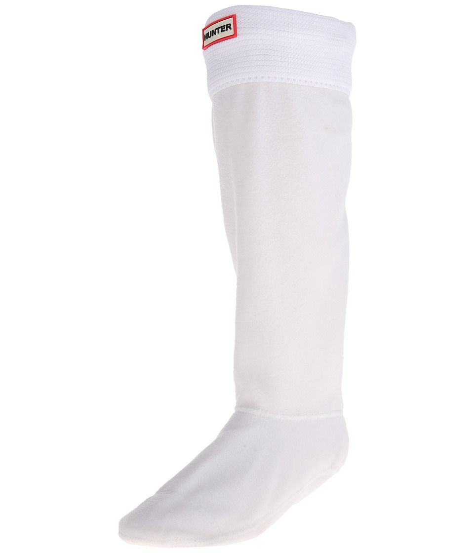Hunter - Original Tall Boot Sock Garter Cuff (Optic White) Crew Cut Socks Shoes