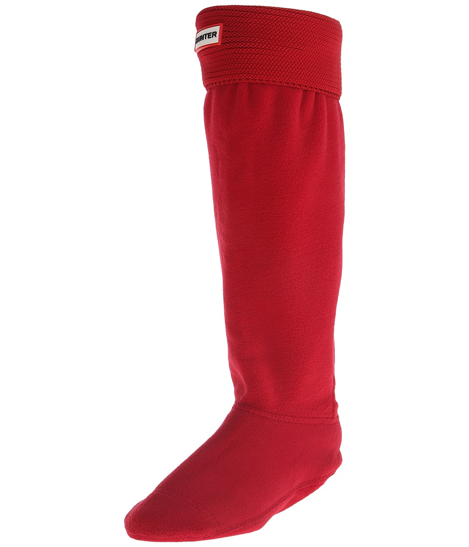 Hunter - Original Tall Boot Sock Garter Cuff (Military Red) Crew Cut Socks Shoes