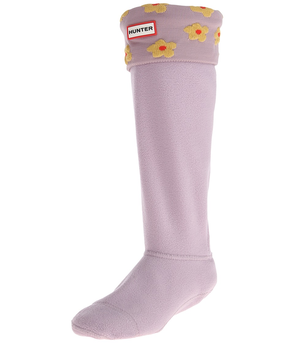 Hunter - Original Tall Floral Cuff Boot Sock Nylon (Hay/Lilac Haze Floral) Crew Cut Socks Shoes