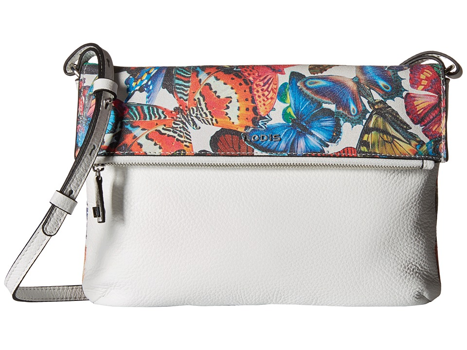 Lodis Accessories Vanessa Butterfly Valerie Convertible Crossbody Clutch (Multi) Clutch Handbags