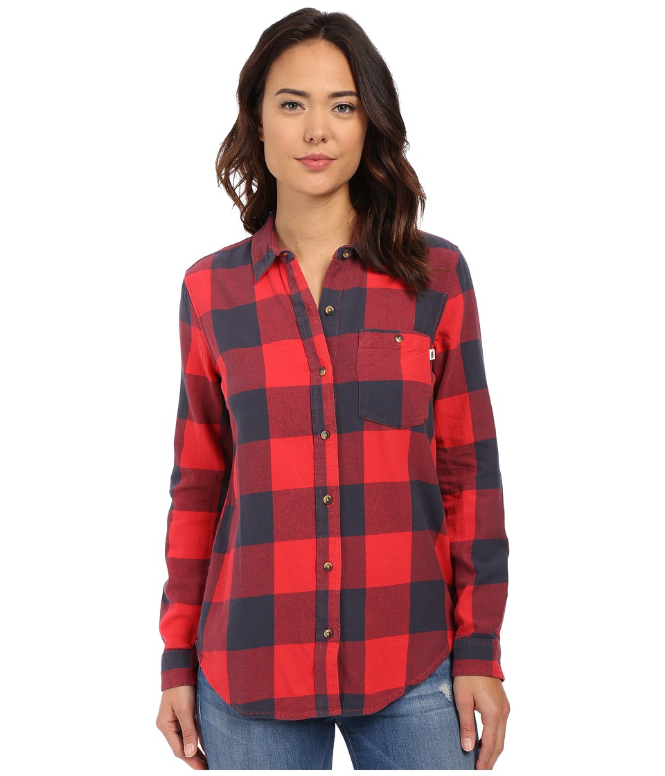 Vans - Moody Blues Flannel Top (Lollipop) Women's Clothing