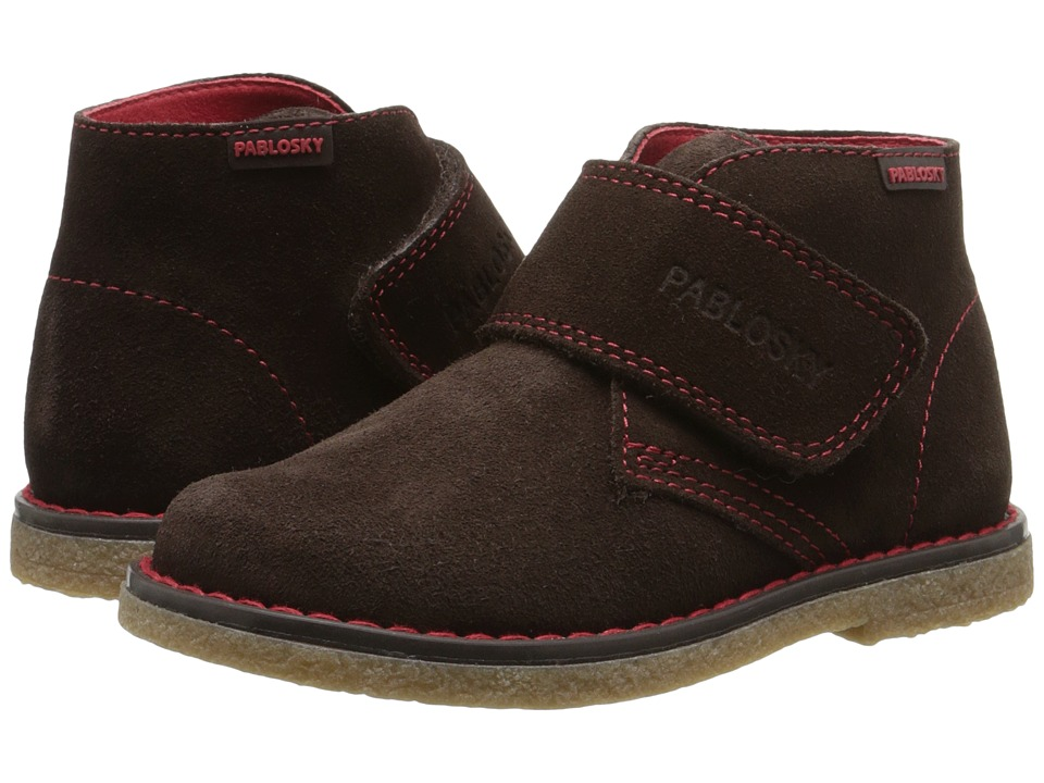 Pablosky Kids - 5684 (Toddler/Little Kid) (Brown/Red) Boys Shoes