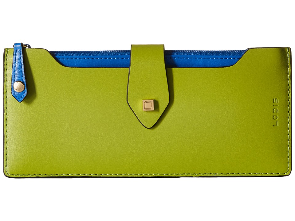 Lodis Accessories - Blair Unlined Sandy Multi Pouch Wallet (Kiwi/Cobalt) Wallet Handbags