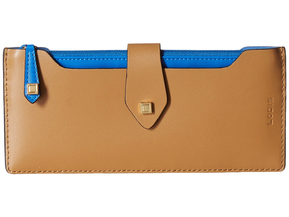 Lodis Accessories - Blair Unlined Sandy Multi Pouch Wallet (Nutmeg/Cobalt) Wallet Handbags