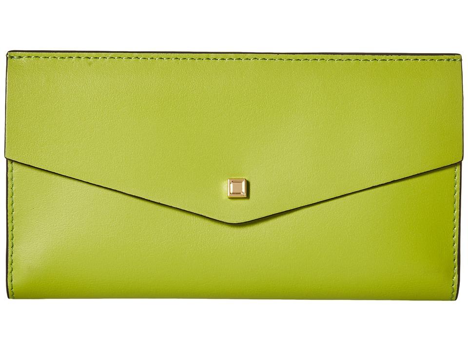 Lodis Accessories - Blair Unlined Amanda Continental Clutch (Kiwi/Cobalt) Clutch Handbags