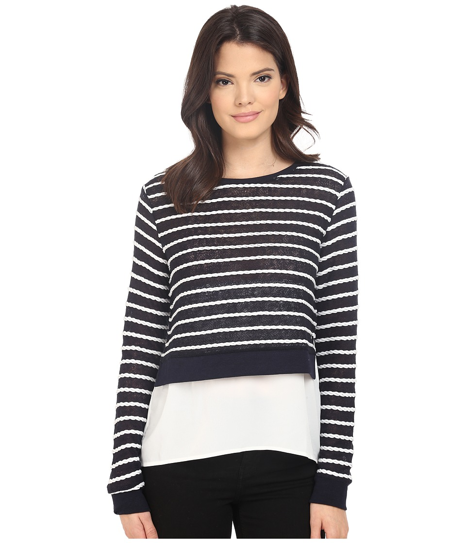 ONLY - Rope Long Sleeve Mix Top (Night Sky) Women's Sweater