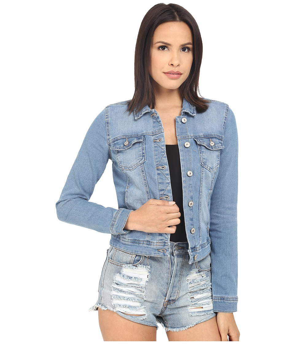 ONLY - Westa Detail Denim Jacket (Light Blue Denim) Women's Coat