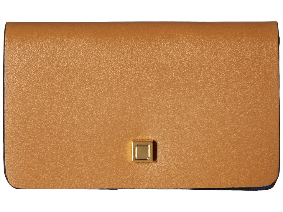 Lodis Accessories - Blair Mini Card Case (Nutmeg/Cobalt) Credit card Wallet